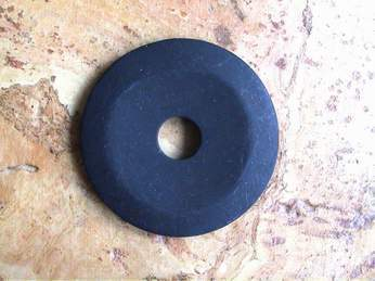 "Donut (4,5cm)  - Onyx ""Frosted"""