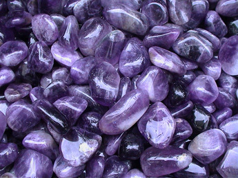 "Trommelsteine (Kiloware!) - Amethyst ""Medium/Dark"""