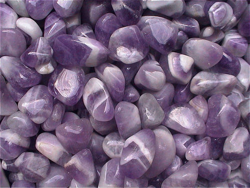 "Trommelsteine (Kiloware!) - Amethyst ""Medium"" (Chevron)"