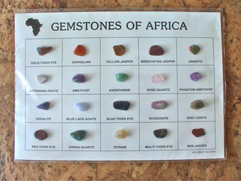 "Edelstein-Displaykarte - ""Gemstones of Africa"" (groß)"