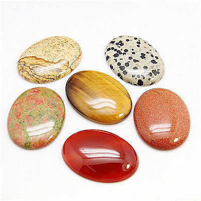 "Cabochons oval ""XL"" - Bunte Mischung (6er-Pack!)"