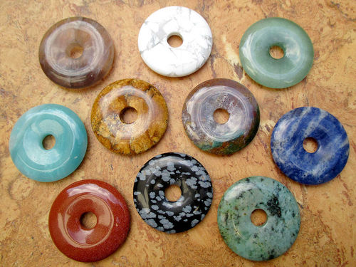Donuts (40mm) - Bunte Mischung (10er-Pack!!!)